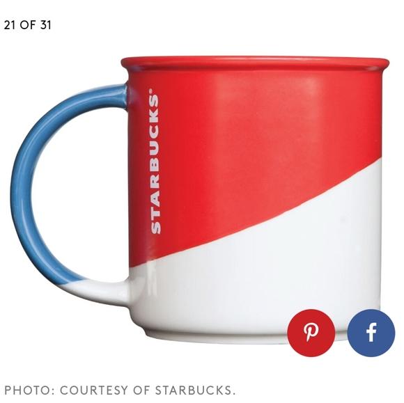 Starbucks Red Angle Dipped Mug 2017